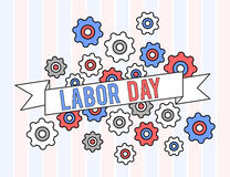 USA labor day graphic design Royalty Free Stock Photography