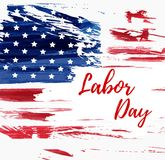 USA Labor day background. USA Labor day holiday background.  Grunge abstract flag. Template for holiday poster, banner, flyer, etc Stock Image