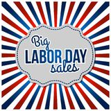USA labor day horizon background. Vector illustration. For web design and application interface, also useful for infographics. Vector illustration Stock Images