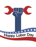 USA labor day poster Royalty Free Stock Photo