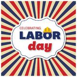 USA Labor Day poster design with Labor Day text. For web design and application interface, also useful for infographics. Vector illustration Stock Images