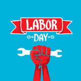Usa labor day vector background. Royalty Free Stock Photography