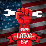 Usa labor day vector background. Stock Photo