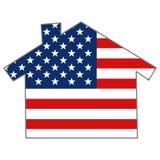 USA-Land-Markierungsfahnen-Haus Stockbilder