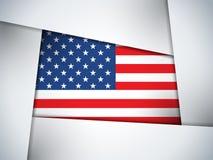 USA-Landesflagge-geometrischer Hintergrund Lizenzfreie Stockbilder