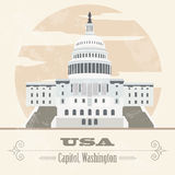 USA landmarks. Retro styled image Stock Photography