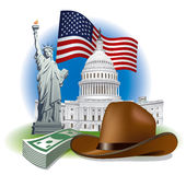 Usa landmarks and symbols Royalty Free Stock Images