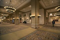 USA - Las Vegas - the caesars palace hotel. And his hallways to rooms royalty free stock images