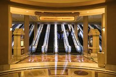 USA - Las Vegas - the caesars palace hotel. And his escalator for the rooms royalty free stock images