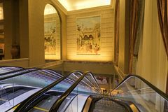 USA - Las Vegas - the caesars palace hotel. And his escalator for the rooms royalty free stock photos