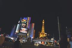 USA, LAS VEGAS - SEP 25 2016: Las Vegas streets at night Stock Photos