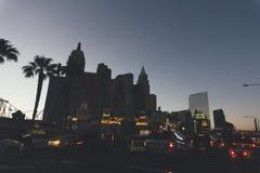 USA LAS VEGAS - SEPTEMBER 25 2016: Las Vegas gator på natten Arkivbilder