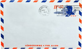 USA letter. Letter from USA 1960s air mail Royalty Free Stock Photo