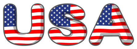 The USA letters Royalty Free Stock Photography