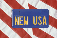 USA license plate Stock Photography