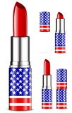 Usa lipsticks Royalty Free Stock Photo