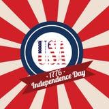 USA-logo Royaltyfri Foto