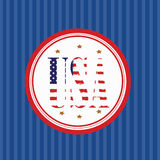 USA logo Royaltyfri Fotografi