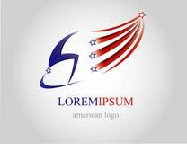 USA-Logo Lizenzfreie Stockfotografie