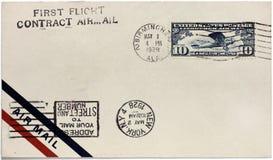 USA Lotniczej poczta pokrywa fotografia royalty free