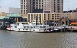 USA, Louisiana, New Orleans - Fluss Mississipi Stockbilder