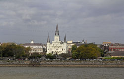 USA, Louisiana, New Orleans - Mississippi River, St.Louis Cathedral Royalty Free Stock Image