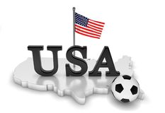 USA loves soccer Stock Photography
