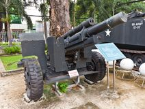 USA M101 haubits. Krigkvarlevamuseum, Ho Chi Minh Arkivfoton