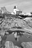 USA, Maine, East Boothbay. Lighthouse Pemaquid Point, East Boothbay, Maine Royalty Free Stock Images