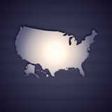 USA map. Isolated on metal background. High resolution image Stock Photo
