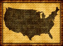 USA map. On old background Stock Photography