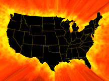 USA map. On abstract background Royalty Free Stock Photo