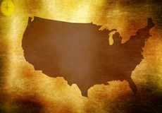 USA map Royalty Free Stock Images