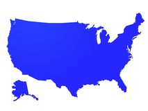 Usa map. Outlines US on a white background Royalty Free Stock Images