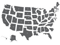 USA  map  Royalty Free Stock Photos