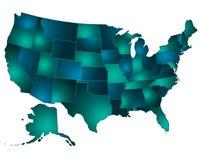 Usa map Stock Image