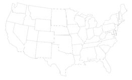 USA Map. USA / United States of America map vector Royalty Free Stock Photography