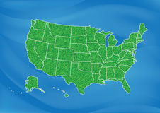 USA Map. On blue background Royalty Free Stock Image