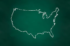 USA map Border Chalk Style Royalty Free Stock Images