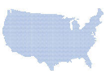 USA map dots Stock Images