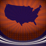 USA Map Election Campaign Royalty Free Stock Images