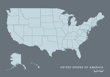 USA map with federal states. Vector illustration Stock Image
