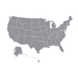 USA map with federal states. Royalty Free Stock Images