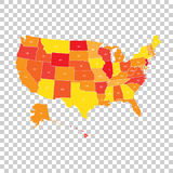 USA map with federal states. Vector illustration United states o Stock Image