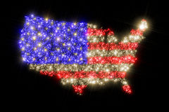 USA map flag Stock Photo