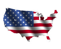 USA map flag Royalty Free Stock Photo