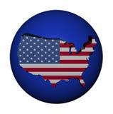USA map flag on blue sphere royalty free illustration