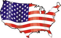 Usa - map and flag Stock Image
