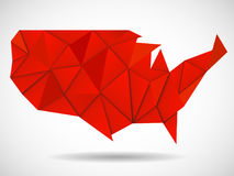 USA map in geometric polygonal style Royalty Free Stock Photos