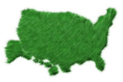 USA map from grass Stock Image